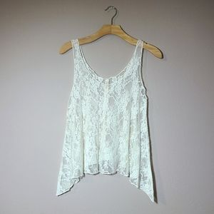 Lovely Day White Lace See-through Tank Top